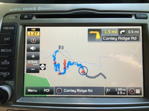 Conley Ridge Road in Western North Carolina -- leading us to Spruce Pine!