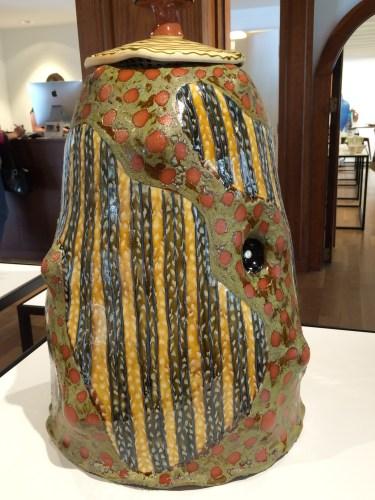 Shroom Stump Jar, Ronan Kyle Peterson (red earthenware)
