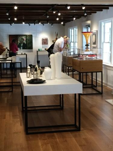 Interior shot of Penland School of Crafts gallery