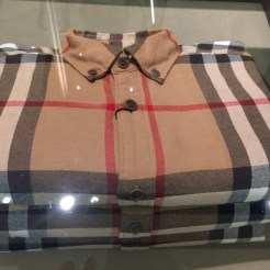 Man's shirt in popular Burberry plaid