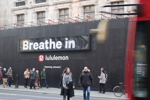 Lululemon sign in London