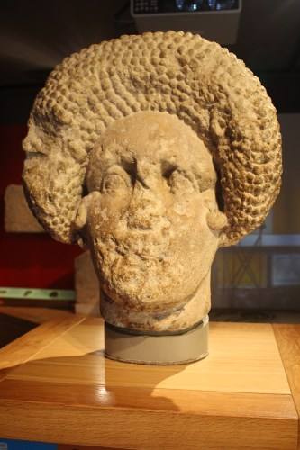 Check out that hairdo on the bust of a Roman woman.