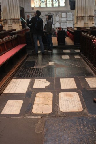 Floor stones (847 total) honor and celebrate both local and national people of merit.
