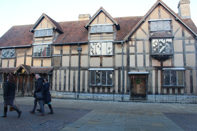 Even the back of this half-timbered house is impressive.