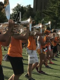 Horns at practice: Pride of the Southland Band