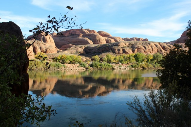 Reflections and layers: Potash Scenic Byway, Utah