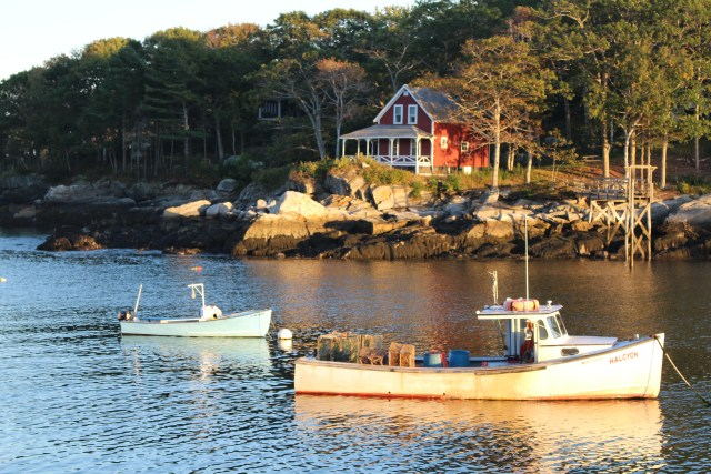 Sunset view of New Harbor, Maine -- the most photographed fishing village? Could be!