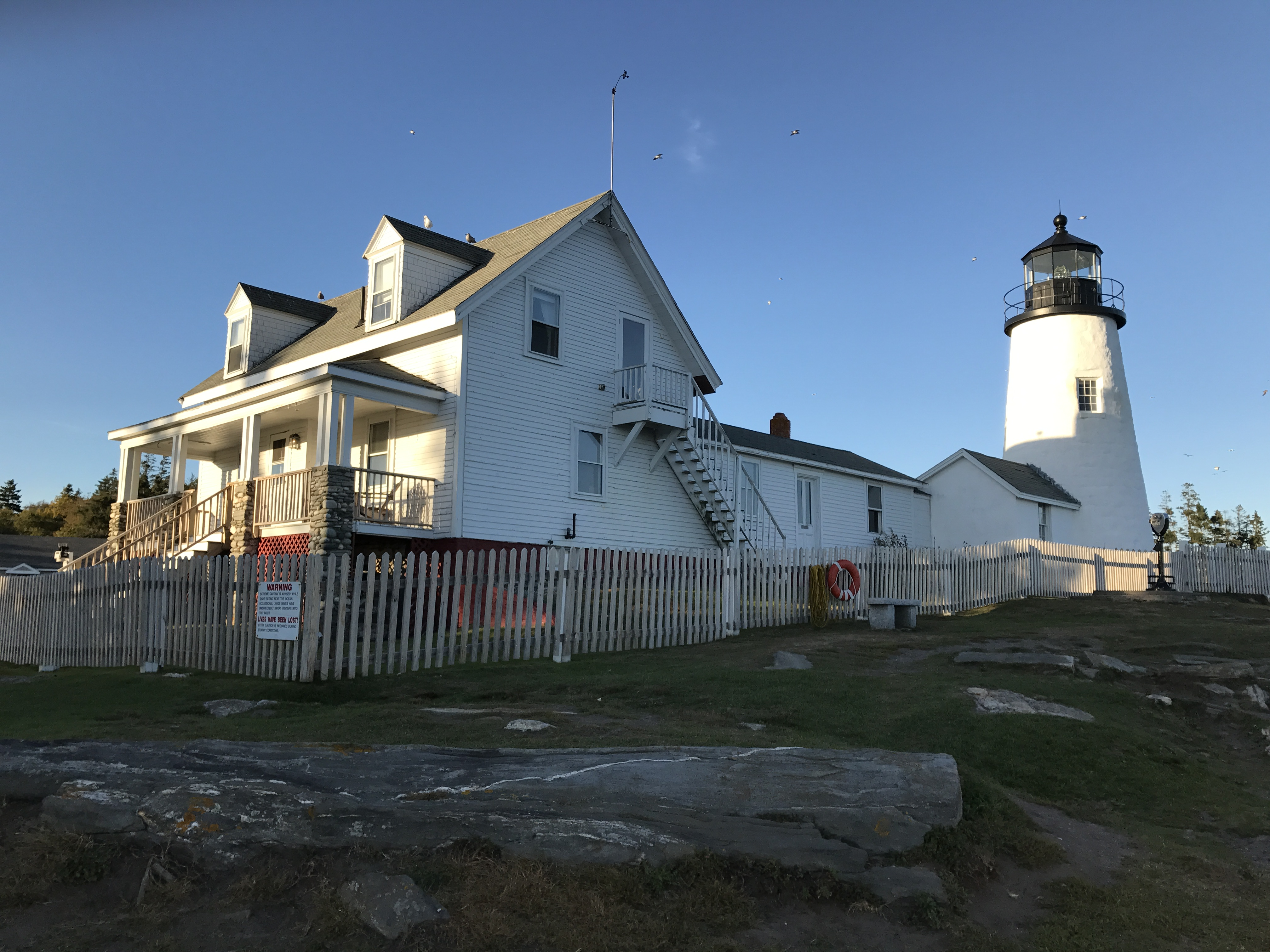 Glowing in the sun: Pemaquid Point Lighthouse