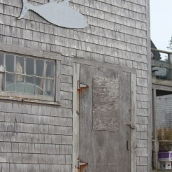 Boarded up on Monhegan