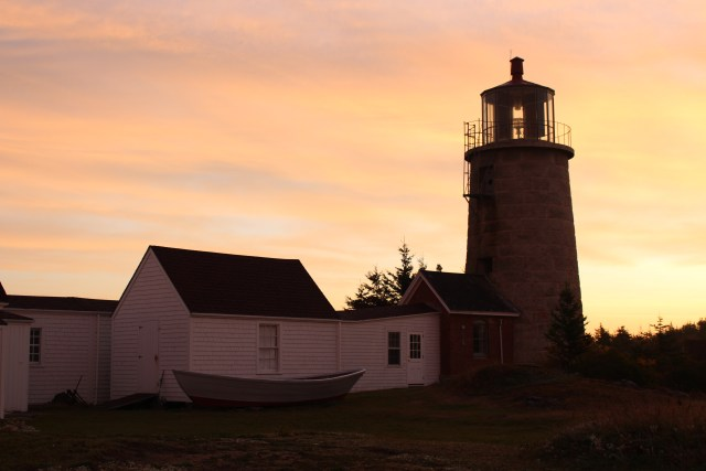 Catching the last rays of sun at Monhegan Island Light