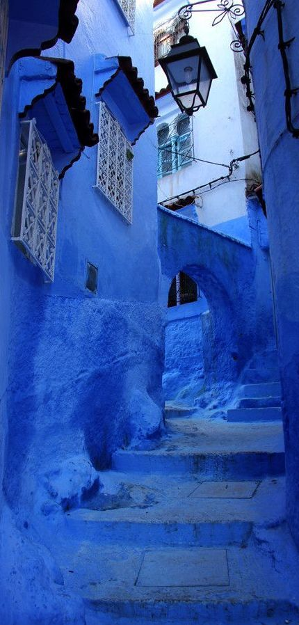 The blue-washed walls of Chefchaouen