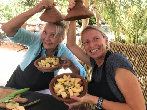 The mother-daughter team of Susan Gaither and Kendra Hodder from California had fun showing off their tagines!