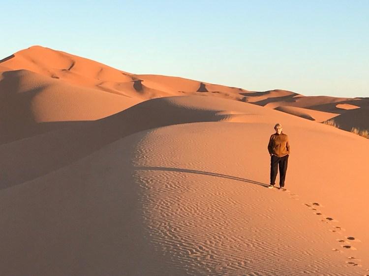Dawn's early light in the Sahara