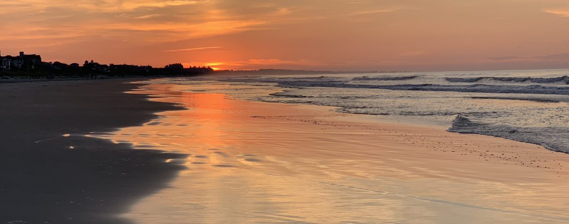 Kiawah emerging light of sunrise sams