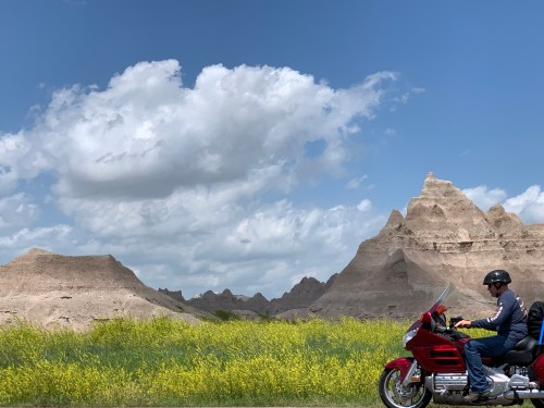 Motorcycles in the Badlands