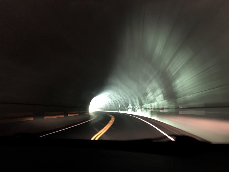 Light at end of tunnel, Great Smoky Mountains