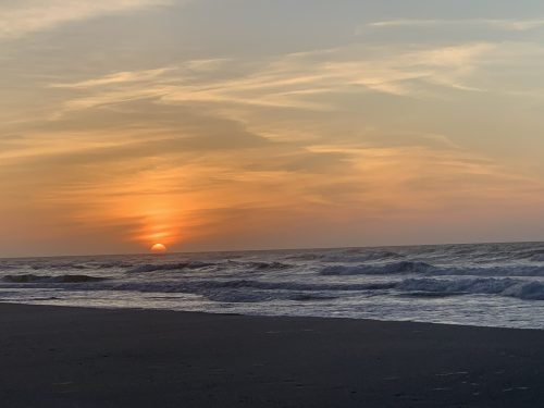 Golden sunrise, Pawleys Island SC