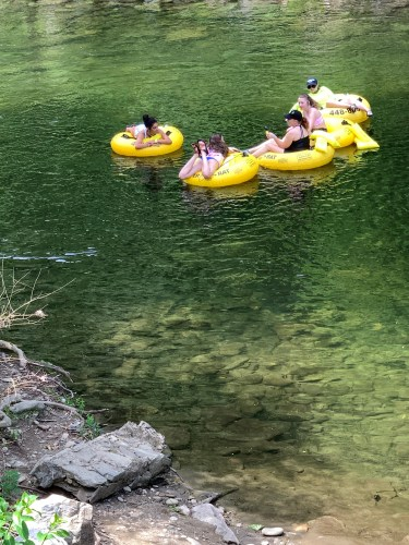Floating downstream in Townsend, TN