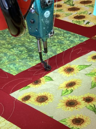 Long-arm quilting machine, Dizzy Diva's in Knoxville