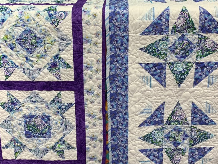 Quilt blocks, Blooming Blue in TN, Little Blessings Quilt shop