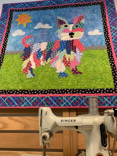 Dog quilt at Tennessee Quilts Johnson City TN