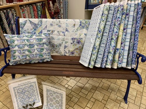 Blooming Blue in Tennessee teaching samples at Tennessee Quilts in Jonesborough TN