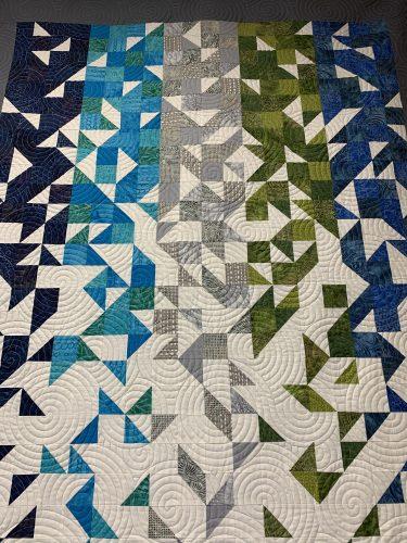 Modern quilt at The Sewing Bee, Jonesborough, TN