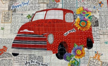 Car quilt at Sewing Bee, Jonesborough TN