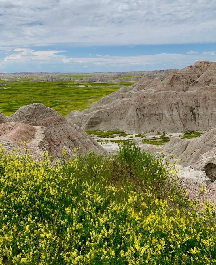 Badlands of SD, Sandstone buttes