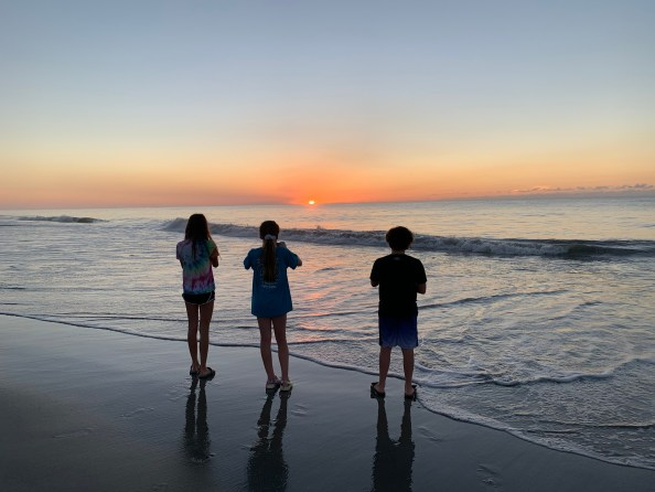 First sunrise, Pawleys Island SC