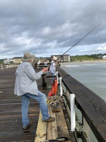 Fisherman at Pawleys Pier, SC