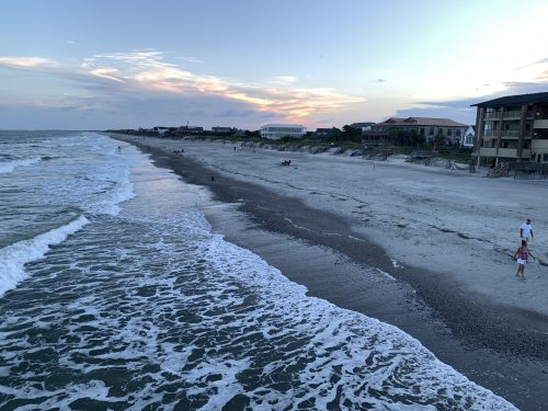 View of North End, Pawleys Island from Pawleys Pier