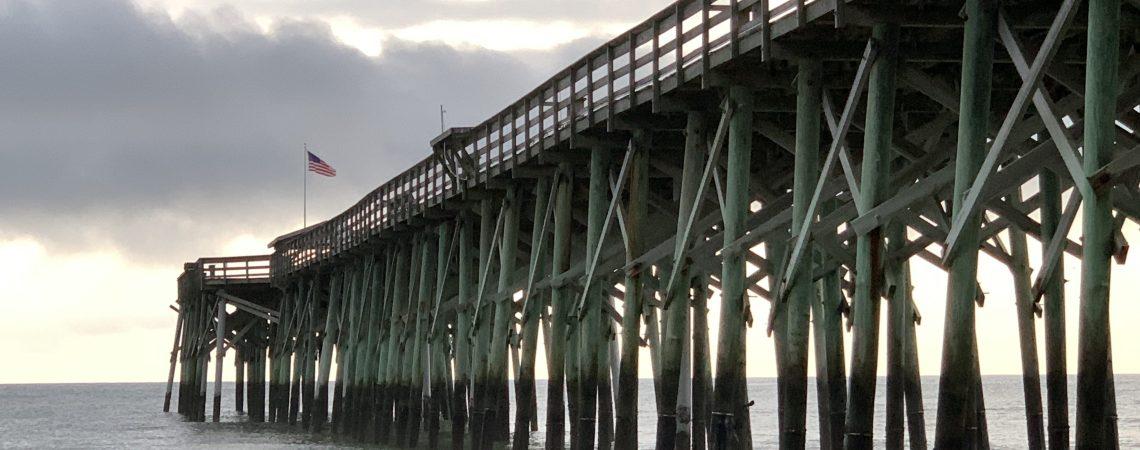 Pawleys Pier just before rain