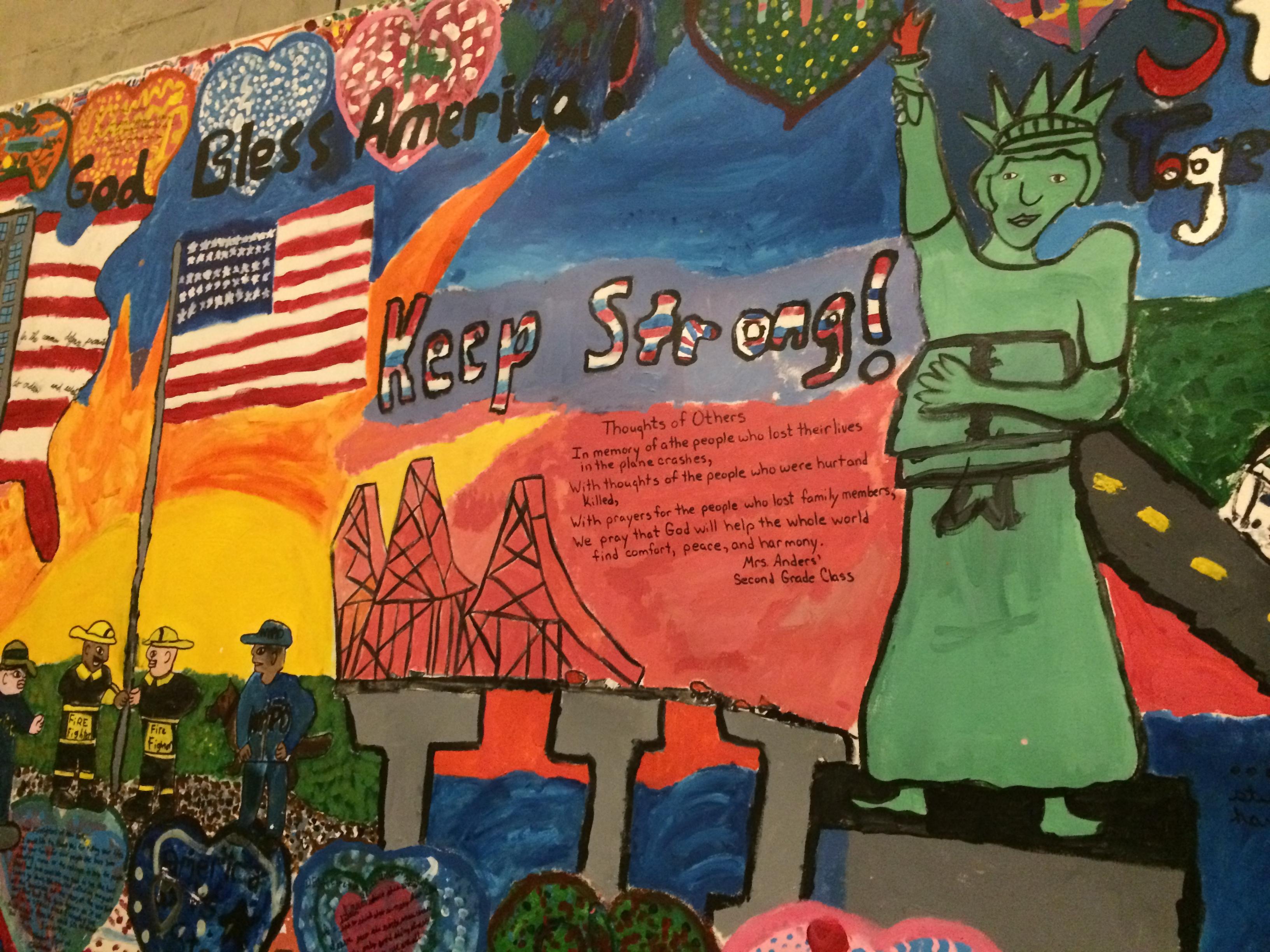 Mural from 9/11 Memorial in NYC