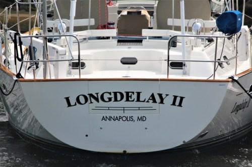 Long Delay, boat in Annapolis harbor