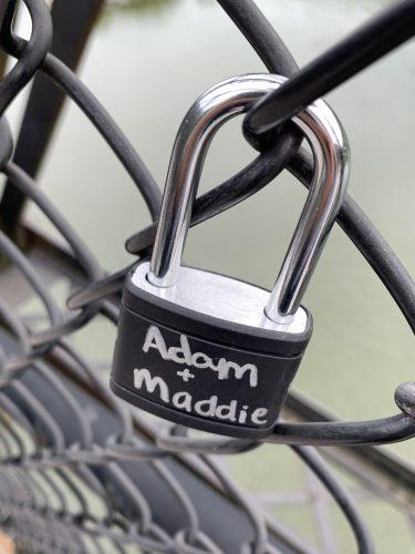Lock on Harpers Ferry bridge, Adam Maddie