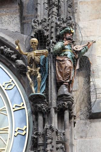 Skeleton on Astronomical Clock, Prague