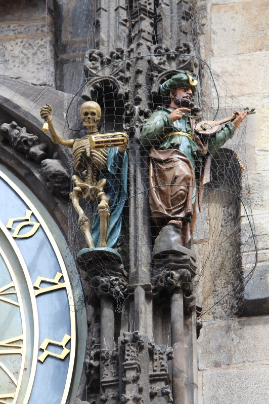 Skeleton on Astronomical Clock, Prague