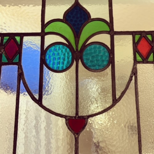 Stained glass window -- the Charlotte Hotel
