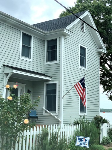 House with flag, Oxford MD