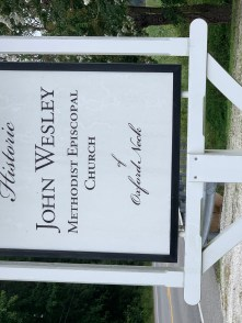 Sign:  John Wesley ME Church, Oxford Neck, MD
