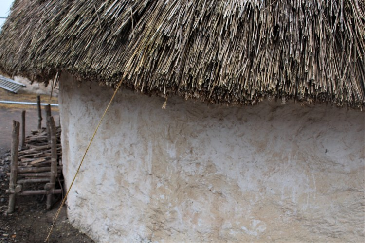 White thatched cottage -- Stonehenge