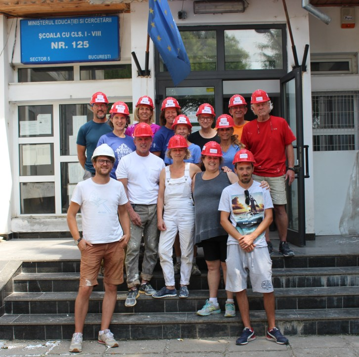 Habitat for Humanity workers, Bucharest, Romania