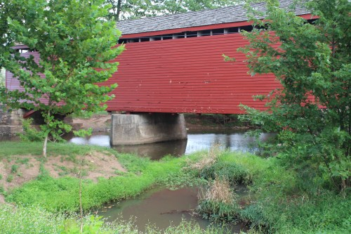 Loys Station Covered Bridge with stream