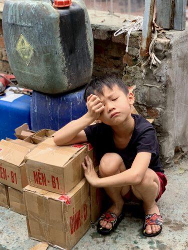 Vietnam, bored boy
