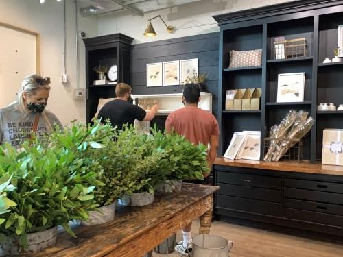 Greenery on sale at Magnolia Market, Waco TX