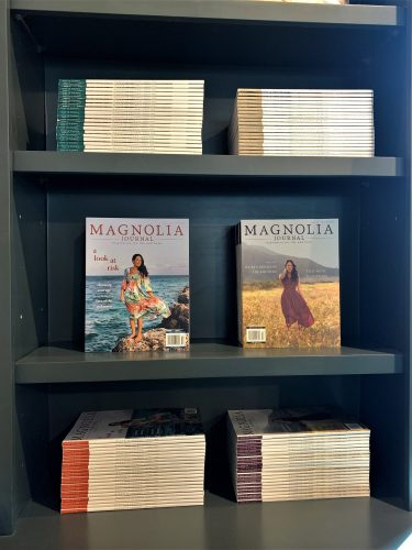 Magnolia magazines in stationery shop, Waco, TX