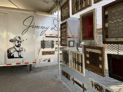 Jimmy Don's pop-up shop, Waco, Texas