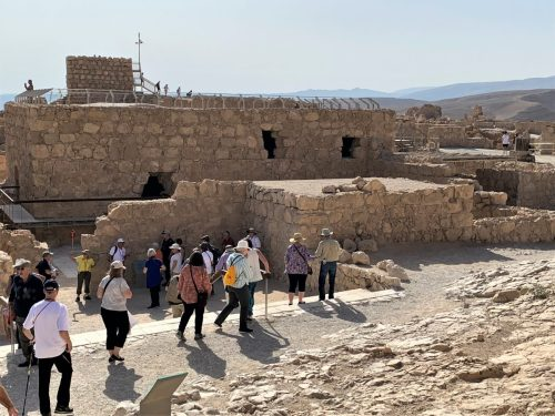 Masada -- view from remaining structures