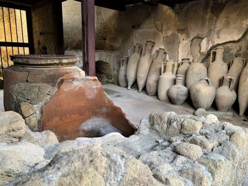 Herculaneum -- Ancient jugs